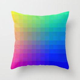 Color Squares in Square Formation Throw Pillow
