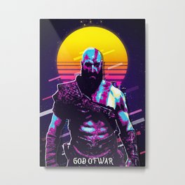 God of War Metal Print