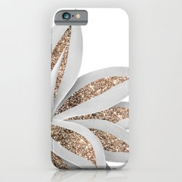 Agave Finesse Glitter Glam #9 #tropical #decor #art #society6 iPhone Case