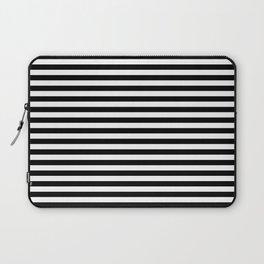 Stripe Black And White Vertical Line Bold Minimalism Stripes Lines Laptop Sleeve