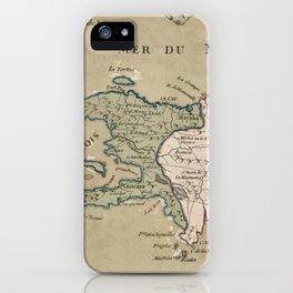 Vintage St. Domingue Map (1762) iPhone Case