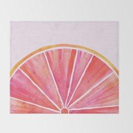 Sunny Grapefruit Watercolor Throw Blanket