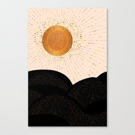 Rays of Love - Golden Glow Canvas Print