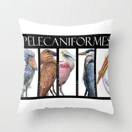 Pelecaniforms Throw Pillow