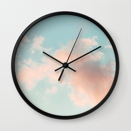 Cotton Candy Clouds - Nature Photography Wall Clock