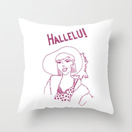 Hallelu! Throw Pillow
