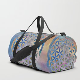 The Flower of Life in the Sky Duffle Bag