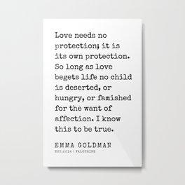 38  Emma Goldman Quotes   200607   The Great Feminist Metal Print