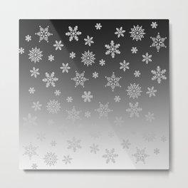 Snow Flurries Metal Print