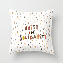 Unity in Solidarity Throw Pillow