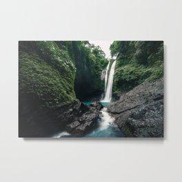 Beautiful Waterfall in Bali Metal Print