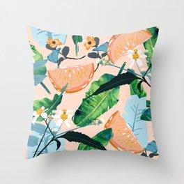 Summer Botanicals #illustration #pattern Throw Pillow