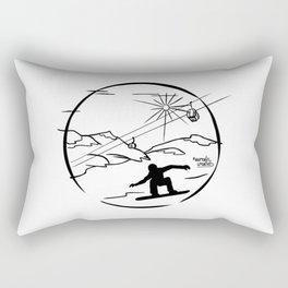 Snowboarding Rectangular Pillow