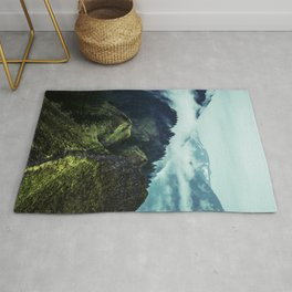 Forest Mountains Blue Sky Rug