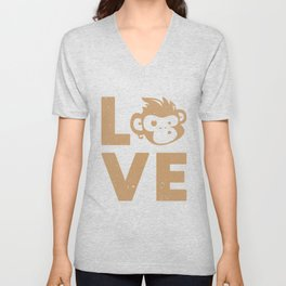 Love My Monkey Unisex V-Neck