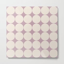 Circular Minimalism - Mauve Metal Print