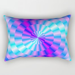 Spiral Rings in Pink and Blue Rectangular Pillow