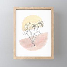 Daisy Floral Framed Mini Art Print