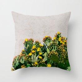 Cactus Blooms II Throw Pillow