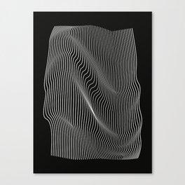 Minimal curves black Leinwanddruck