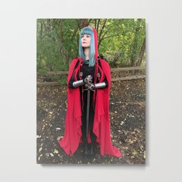 Red Riding Hood, Guardian of the Forest Metal Print