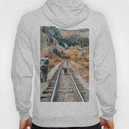Autumn Tracks // Backpacking the Railroad Fall Tree Landscape with Black Dog Hoody