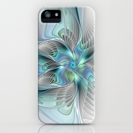 Abstract Butterfly, Fantasy Fractal Art iPhone Case