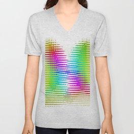 Abstract Rainbow Unisex V-Neck