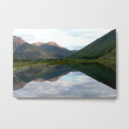View of the Red Mountains above Ironton Park, from Crystal Lake Metal Print