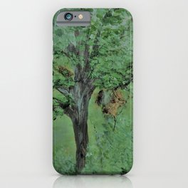 Palette Knife Tree on Wood iPhone Case