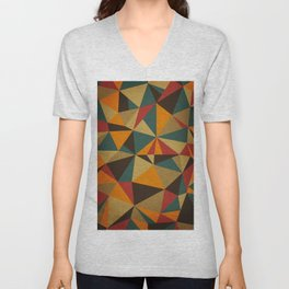 The Colorful Triangle Unisex V-Neck