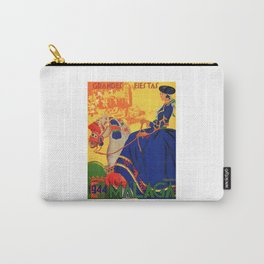1944 Malaga Grandes Fiestas Spain Travel Poster Carry-All Pouch