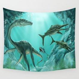 Underwater Dinosaur Wall Tapestry
