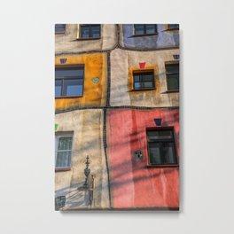 Hundertwasserhaus  Vienna Austria 2 building Metal Print
