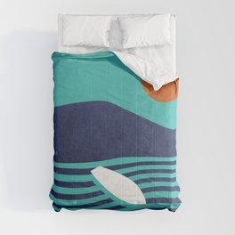 Surfing board Comforters