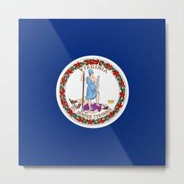 Virginia State Flag Patriotic Design Metal Print
