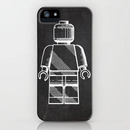 Lego Man original Lego patent iPhone Case