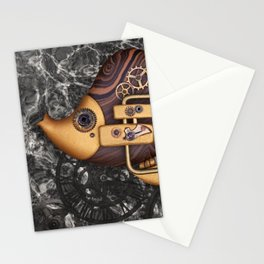 Steampunk Butterflyfish Stationery Cards