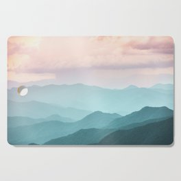 Smoky Mountain National Park Sunset Layers II - Nature Photography Cutting Board