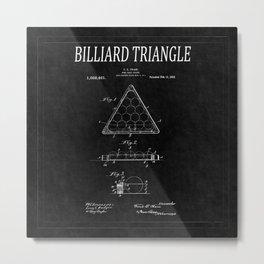 Billiard Triangle Patent 2 Metal Print