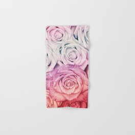 Some people grumble II  Floral rose flowers pink and multicolor flower garden Hand & Bath Towel