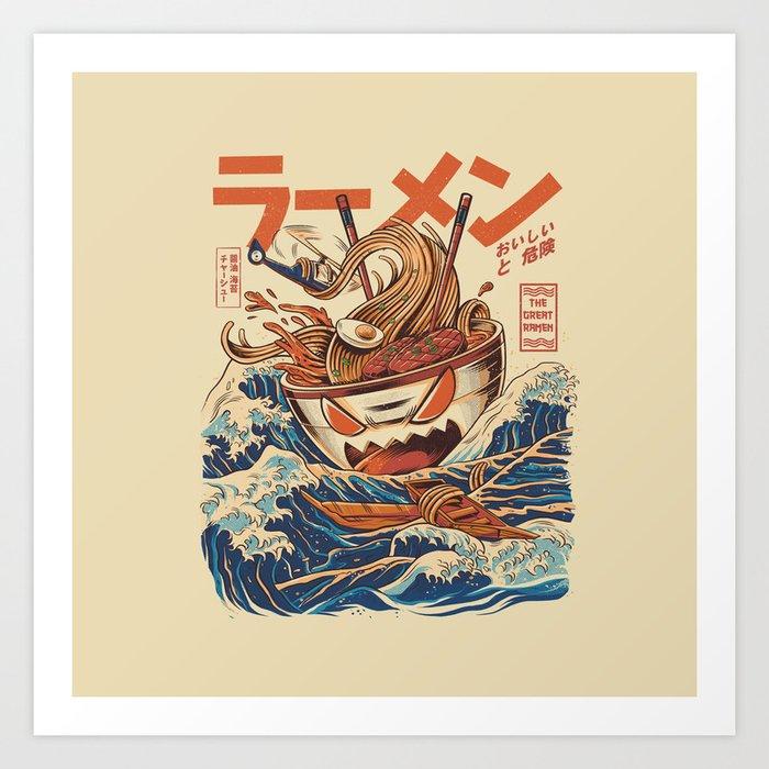 Great Ramen off Kanagawa Kunstdrucke