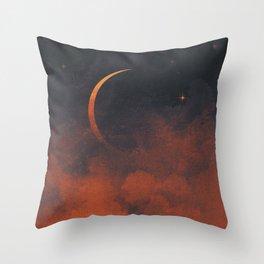 Silent Moon Throw Pillow