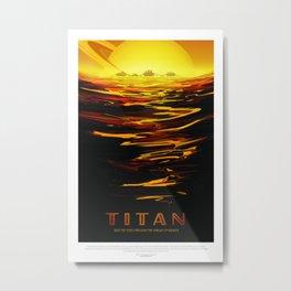 Titan - NASA Space Travel (Alternative) Metal Print