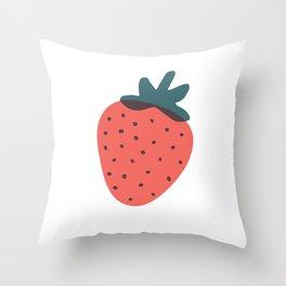 Strawberries Throw Pillow