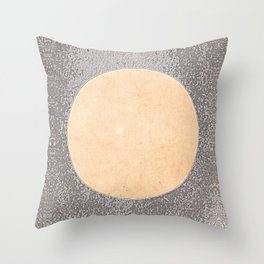 Silver Moon - Minimalist Abstract Graphic Throw Pillow