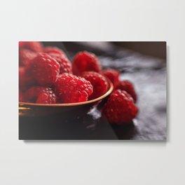 Fresh Raspberries Ayone Metal Print