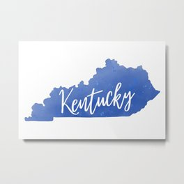 Kentucky Map State Watercolor Print Metal Print