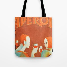 Aperol 'Salute!' Wine and Wine Alcohol Aperitif Vintage Advertisement Poster Tote Bag