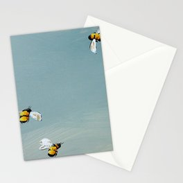 Bees in spring Stationery Cards